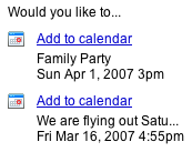 GCal add events from GMail