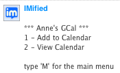 IMified GCal menu