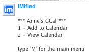 IMified GCal menu