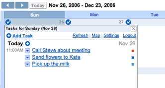 GCal Remember the Milk integration