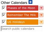 GCal other calendars