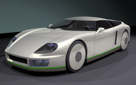 Pic of Transonic Combustion's Demo 100 MPG Car