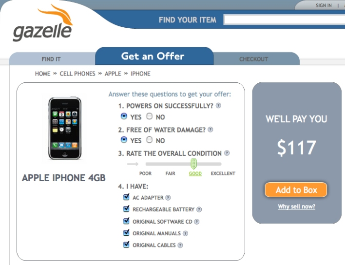 Gadget Buyback Site Second Rotation Relaunches as Gazelle