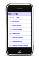 Toodledo on iPhone