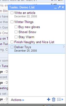 Gmail Tasklist