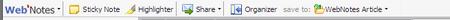 WebNotes Toolbar