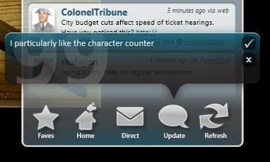 blu Update Screen