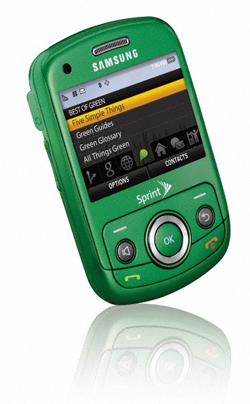 8 Green Cell Phones: Who's Got 'Em?