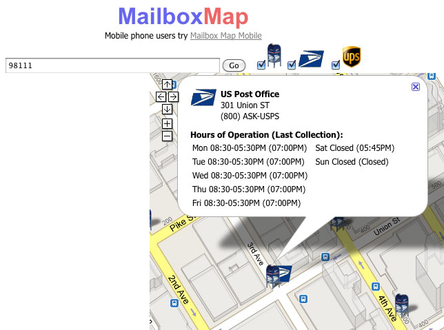 Find A Mailbox Post Office Or Ups Location With
