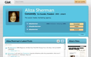 Aliza Sherman on Gist-1