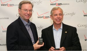 Lowell McAdam (right) with Google's Eric Schmidt
