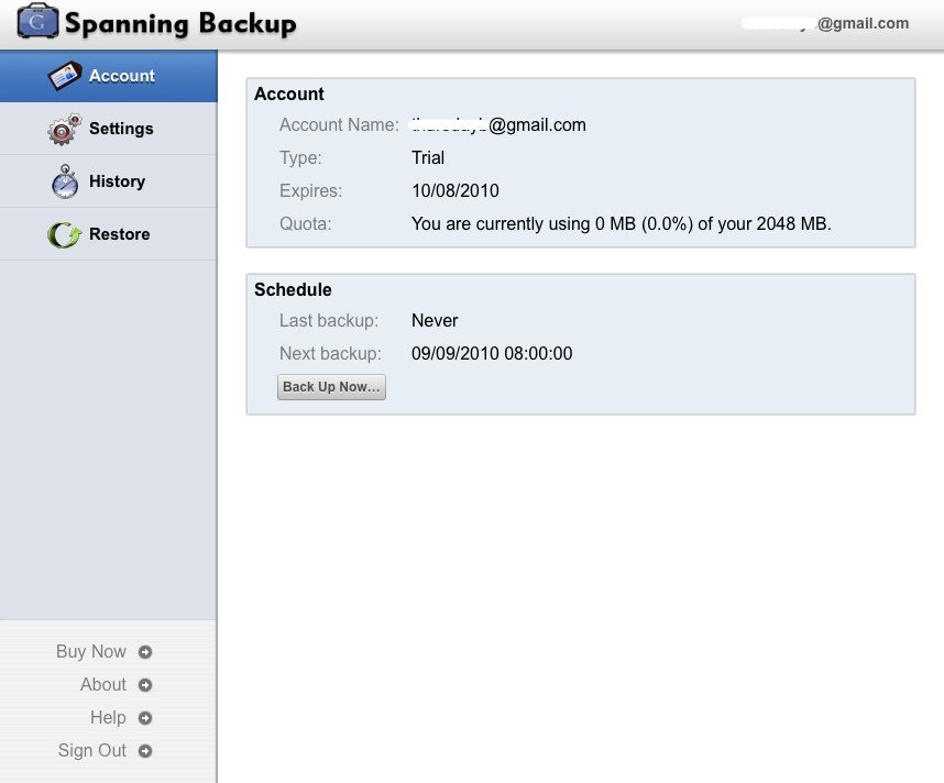 Spanning Backup - Back up Google Calendar, Contacts, and Docs to the cloud