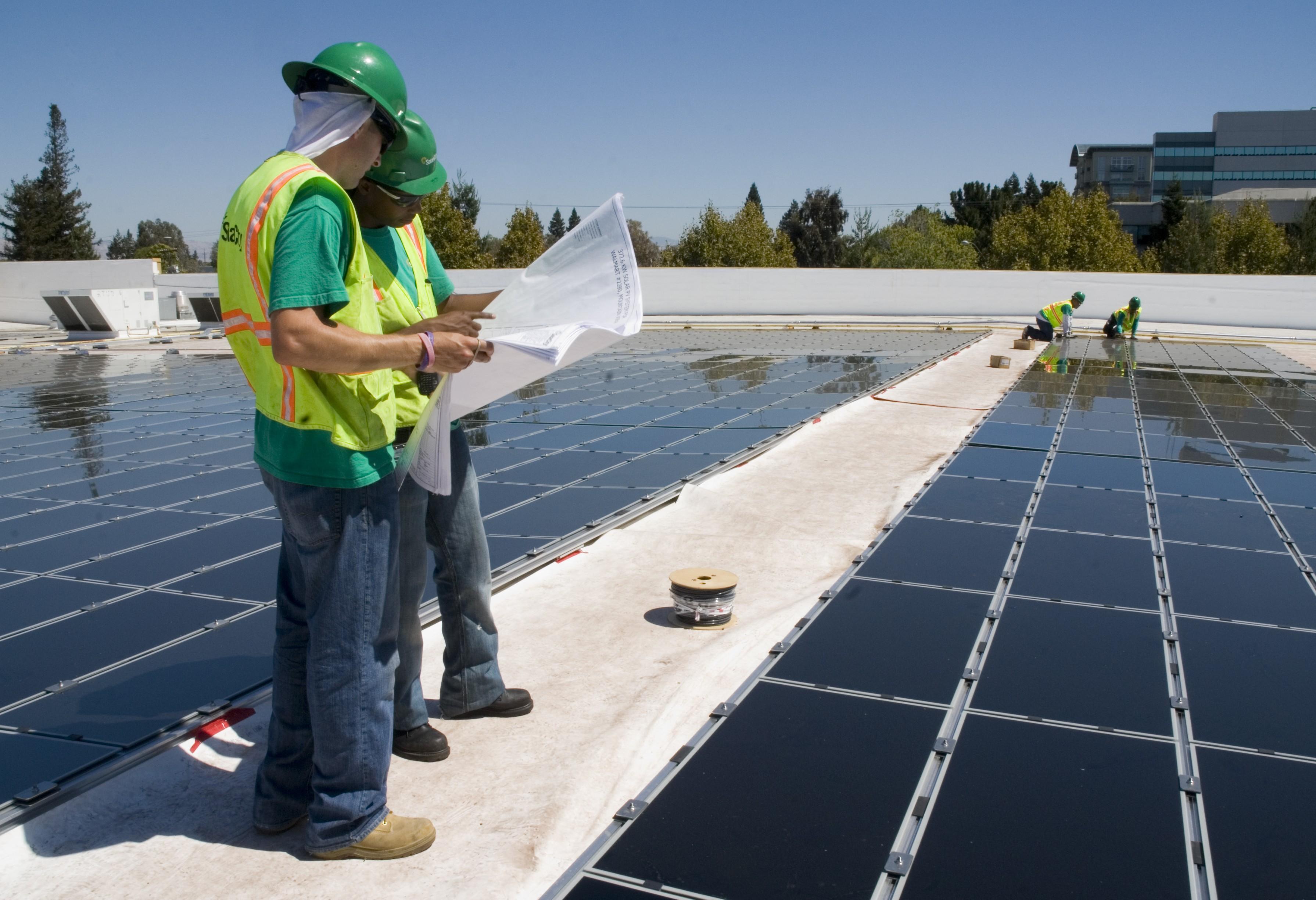 SolarCity panels on a Walmart, courtesy of SolarCity.