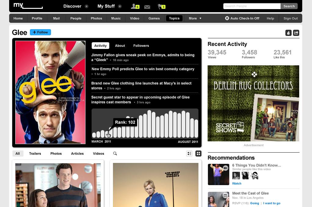 Myspace redesign1