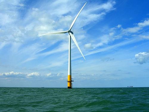 Off-shore wind turbine, Thames Estuary, UK