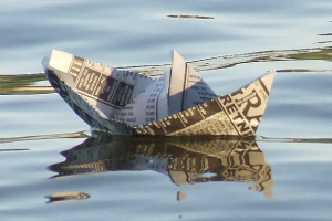 floating paper