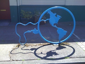 internet map bike rack