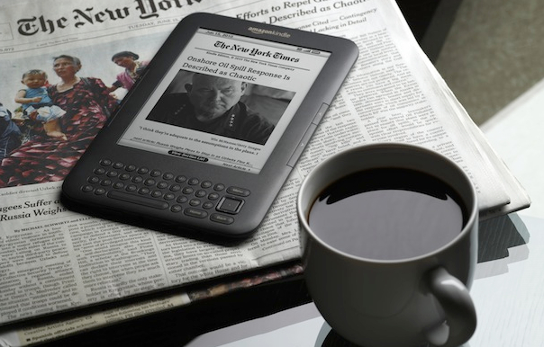 Kindle with Newspaper featured