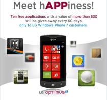 LG WP7 apps