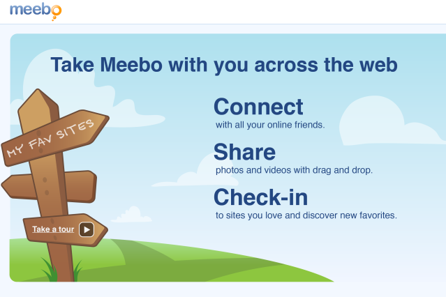Meebo landing page