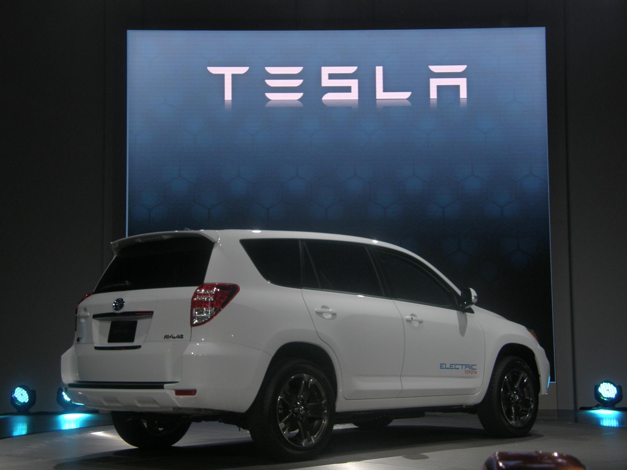 Toyota and Tesla's RAV4 EV