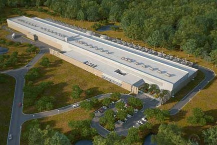 Facebook's planned North Carolina data center.