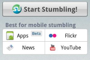 StumbleUpon app discovery
