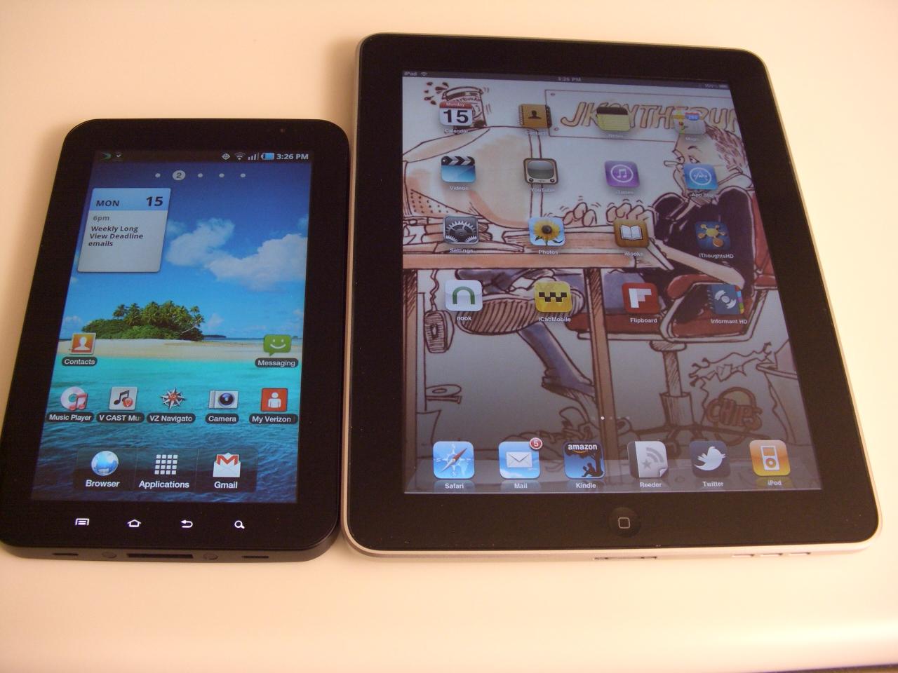 Tab v iPad