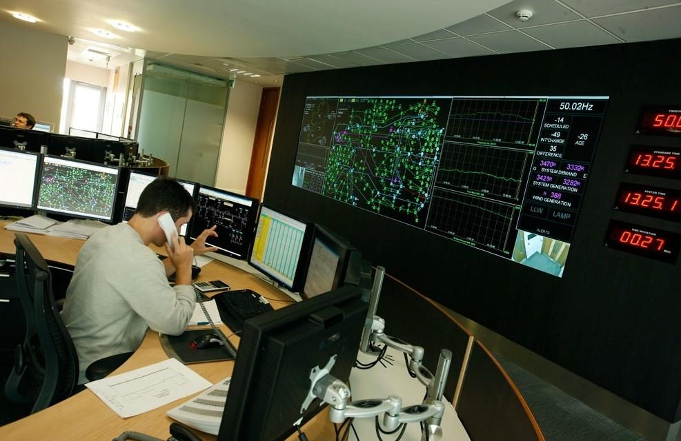 Eir Grid Ireland Electricity Utilities Control Room Video Wall