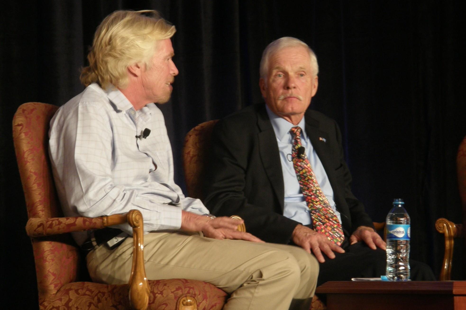 Richard Branson & Ted Turner at World Climate Summit