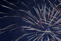Fireworks display during New Year's celebrations