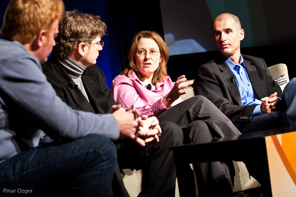 Alex Edelstein, Sharon Chiarella, Doron Reuveni, Maynard Webb at Net:Work 2010