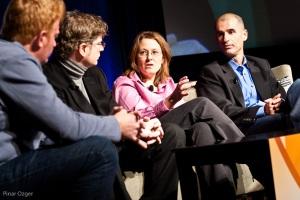 Alex Edelstein, Sharon Chiarella, Doron Reuveni, Maynard Webb at Net:Work 2010
