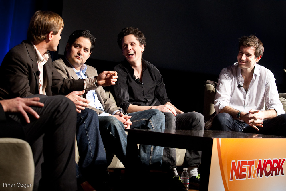 Chuck Dietrich, Isaac Garcia, Aaron Levie, Andy McLoughlin at Net:Work 2010