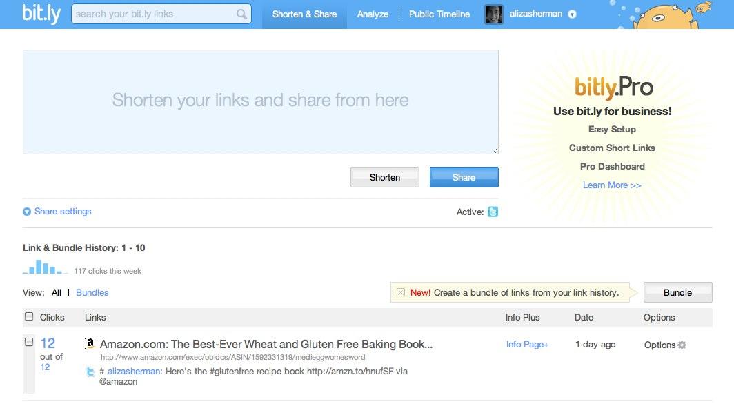 Shorten & Share | bit.ly | a simple URL shortener