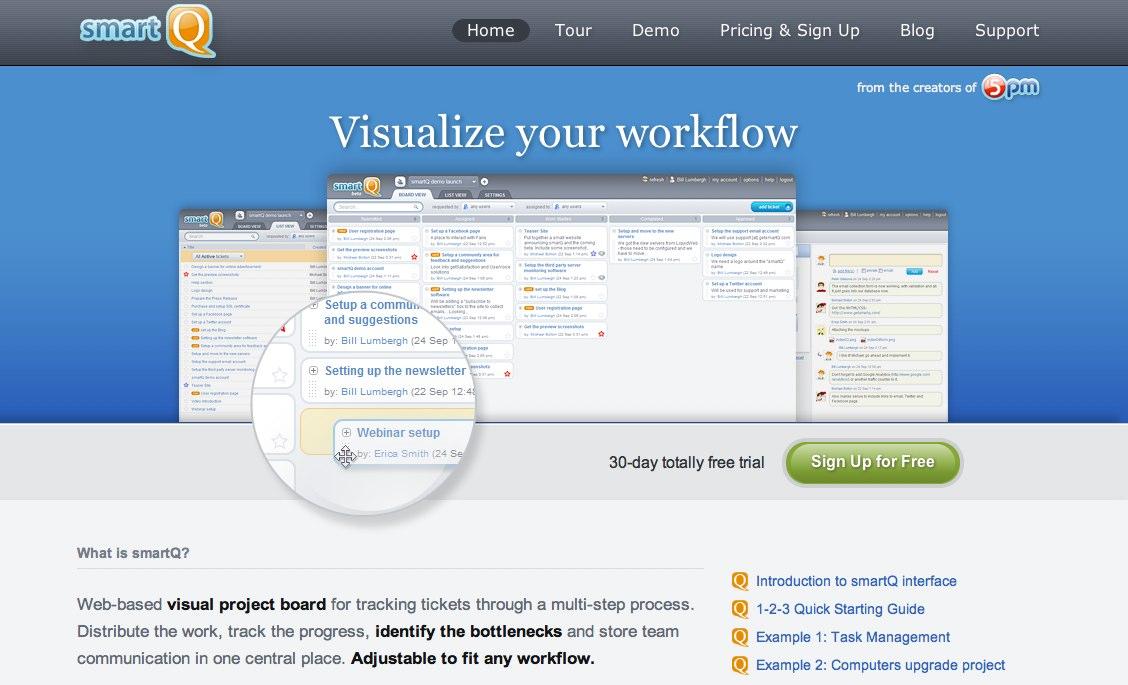 smartQ - workflow visualization, task management, team collaboration