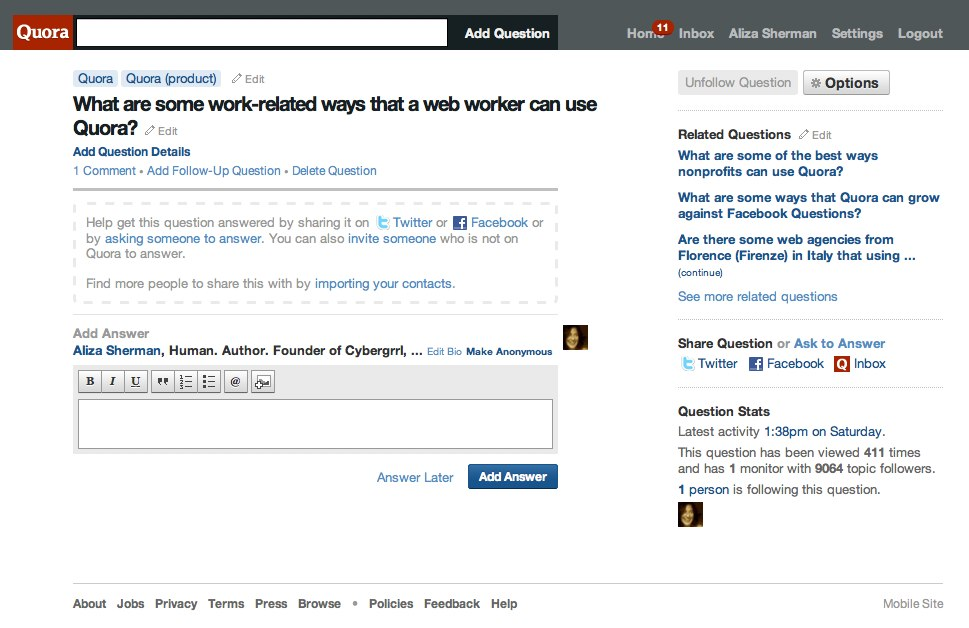 (11) What are some work-related ways that a web worker can use Quora? - Quora