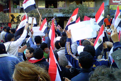 Egyptian protests by Muhammed Ghafari
