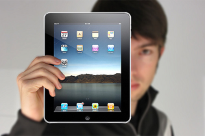 Man holding iPad