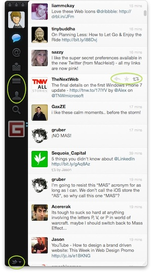 Changes in the Twitter for Mac interface