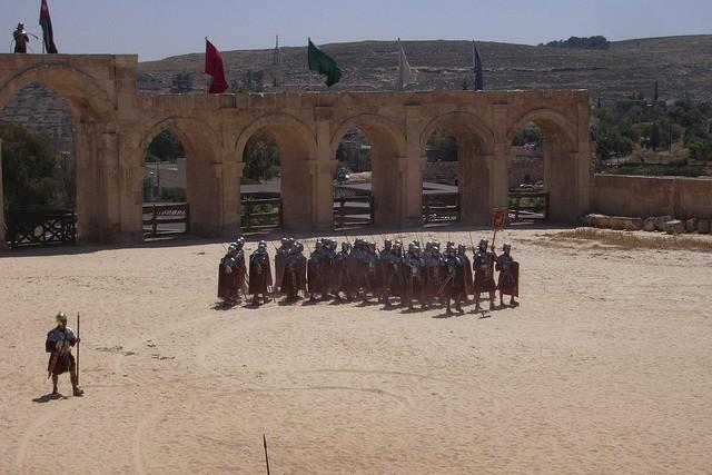 Roman legion soldiers