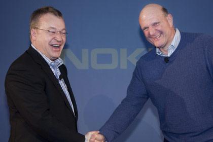 Stephen Elop and Steve Ballmer