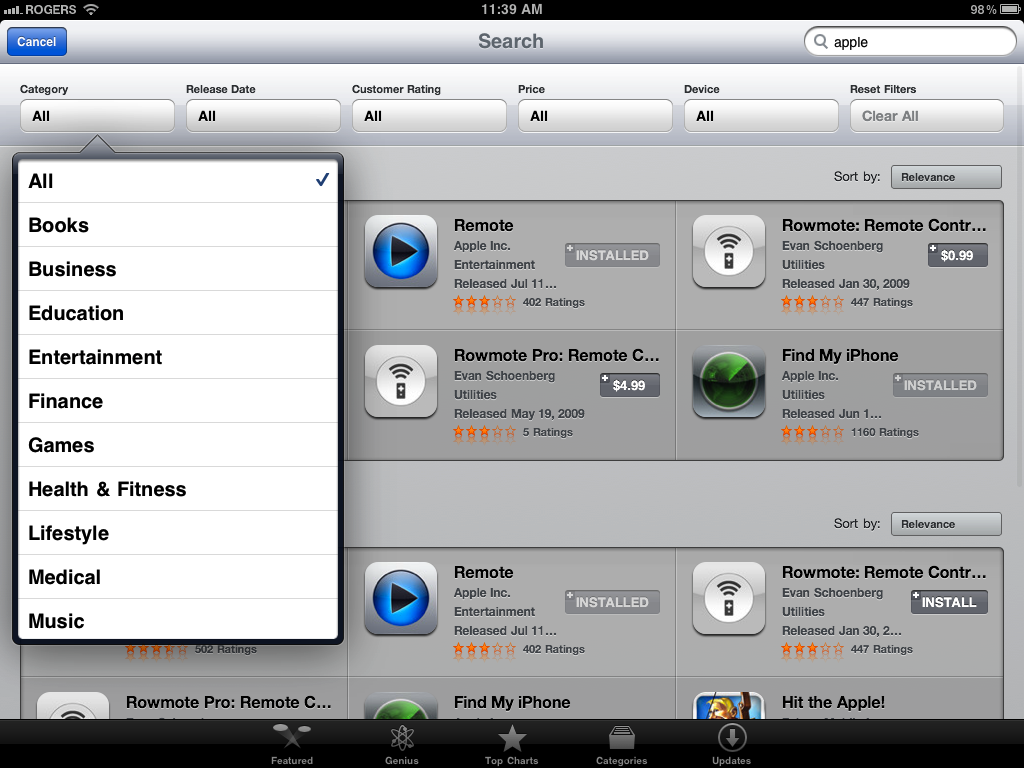 Ipad App Store Gets Multiple Usability Improvements Gigaom