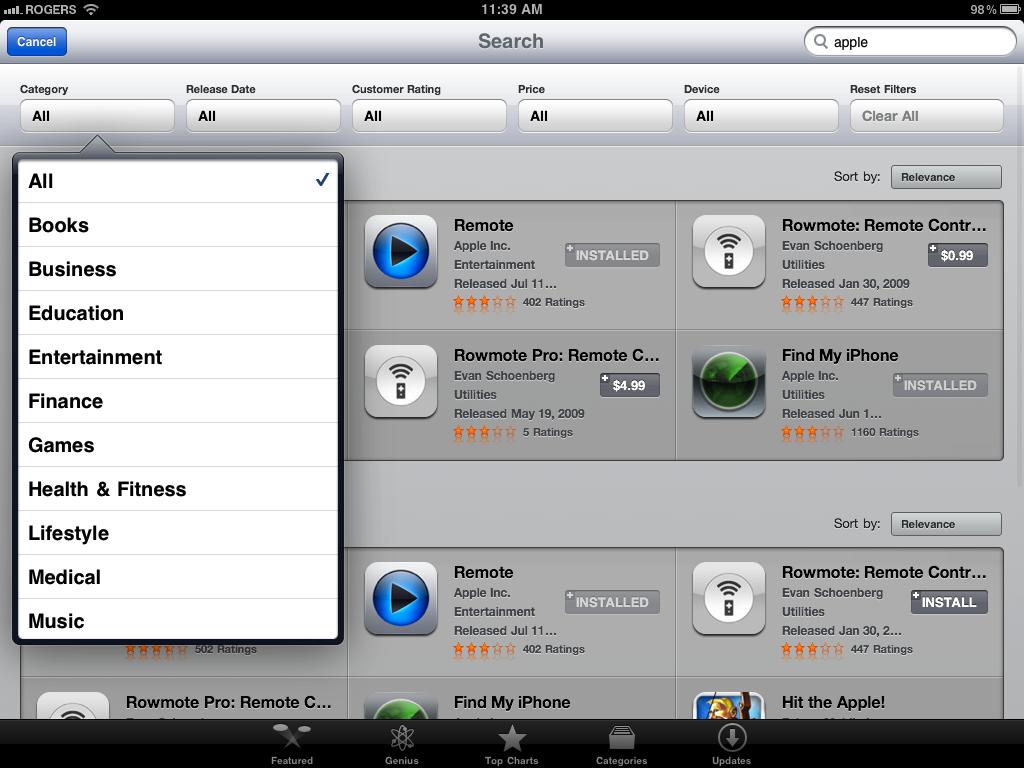 ipad app store gets multiple usability improvements gigaom. Black Bedroom Furniture Sets. Home Design Ideas