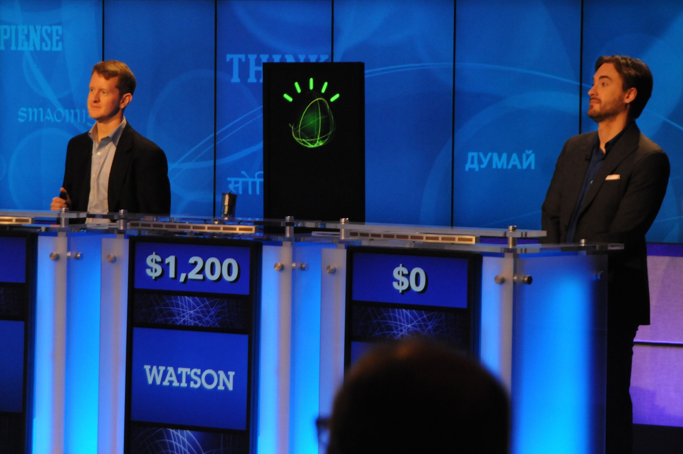 Watson schooling Jeopardy champions. Source: IBM