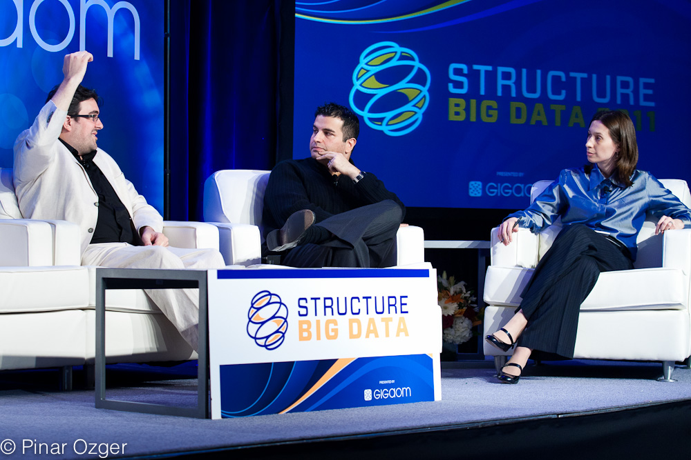 Moe Khosravy of Microsoft and Flip Kromer of Infochimps at Structure Big Data 2011