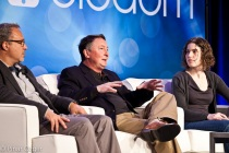 Terry Jones of Fluidinfo, Hilary Mason of bit.ly, Bill McColl of Cloudscale, and Bassel Ojjeh nPario at Structure Big Data 2011