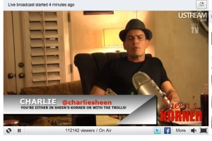 charlie sheen ustream