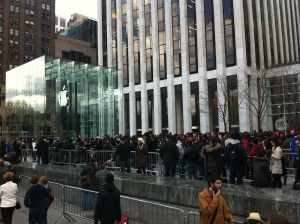 Another view of the 5th Avenue Apple Store in NYC. Photo by Ryan Kim.