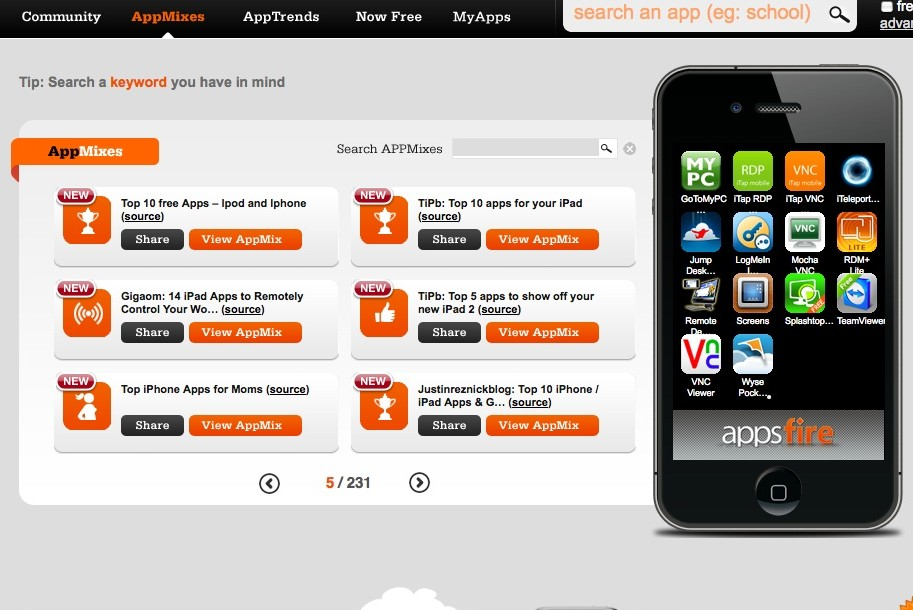 Appsfire AppMixes screenshot